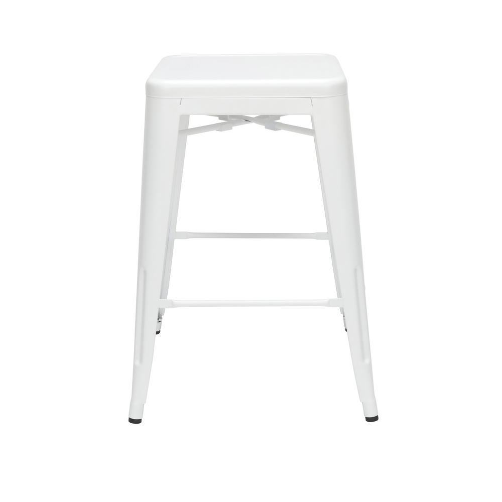 """The OFM 161 Collection Industrial Modern 26"""" Backless Metal Bar Stools, 4 Pack, require no assembly, are stackable, and provide a roomy 15 square inches of seating surface. These counter height stools. Picture 4"""