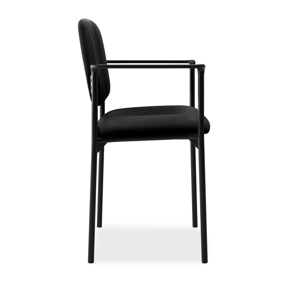 HON Scatter Guest Chair - Upholstered Stacking Chair with Arms, Office Furniture, Black (VL616). Picture 4