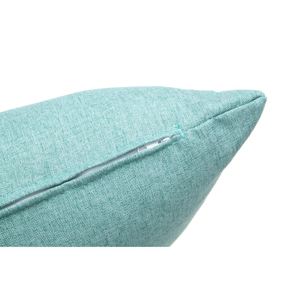 161 Collection Mid Century Modern 2-Pack 18 x 18 Accent Pillows, Teal. Picture 8