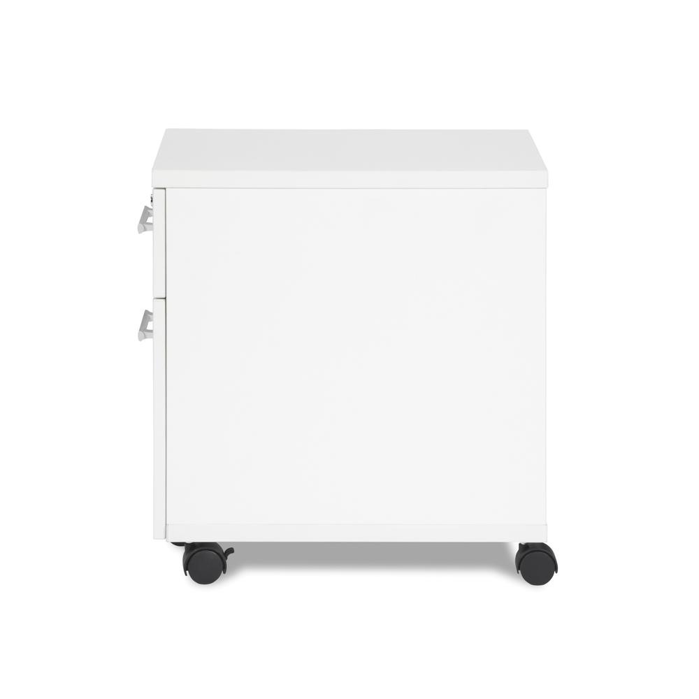 OFM Fulcrum Series Locking Pedestal, Mobile 2-Drawer Filing Cabinet, White (CL-MBF-WHT). Picture 5