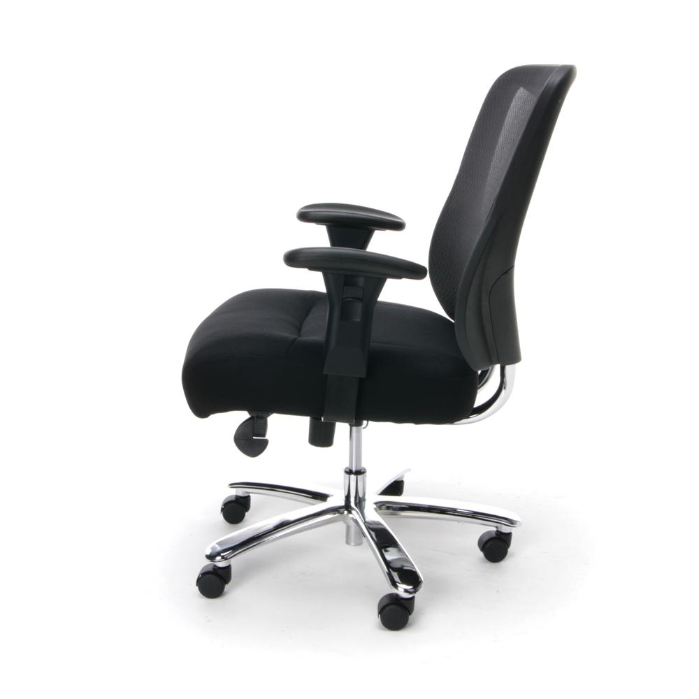 OFM ESS-200 Big and Tall Swivel Mesh Office Chair with Arms/Chrome. Picture 5