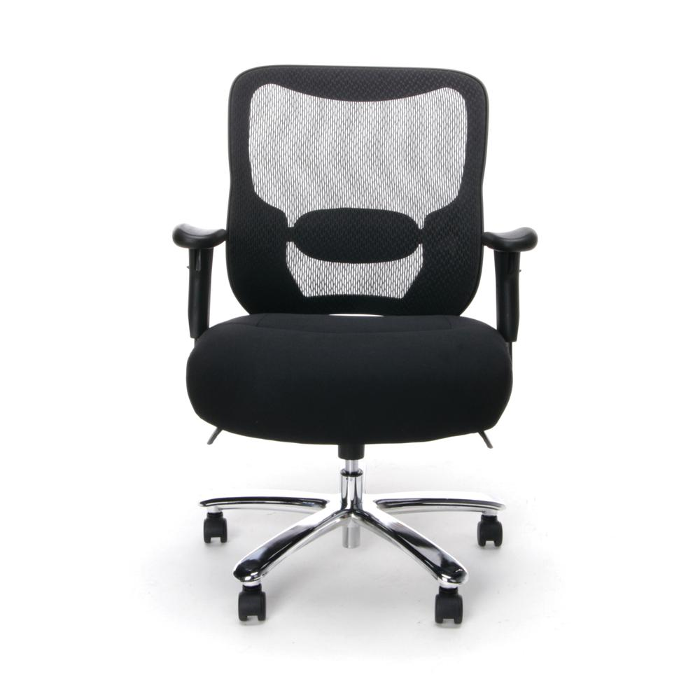 OFM ESS-200 Big and Tall Swivel Mesh Office Chair with Arms/Chrome. Picture 2