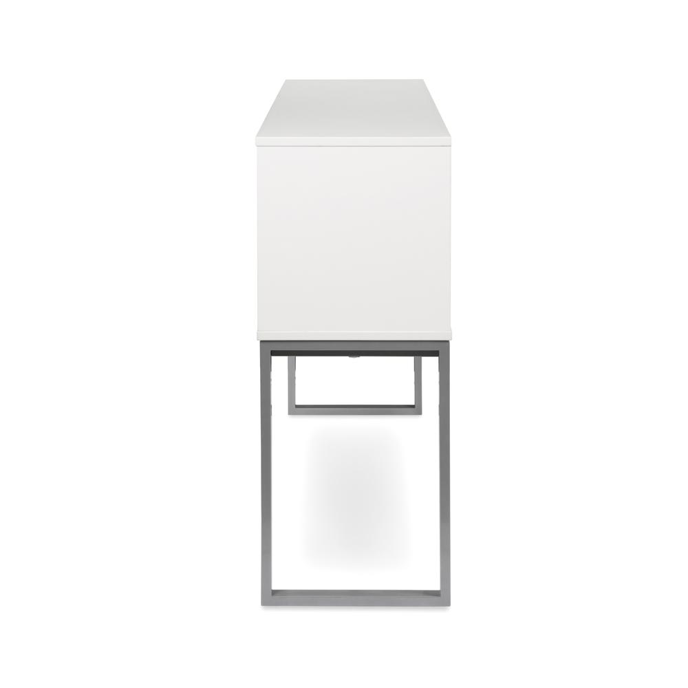 """OFM Fulcrum Series 60"""" Hutch with Doors, Office Cabinet for Storage, White (CL-H6015-WHT). Picture 4"""