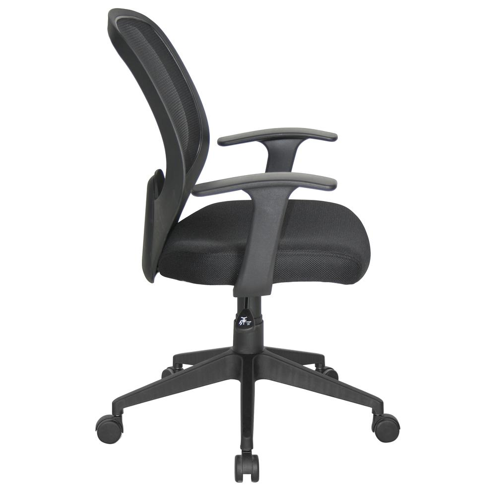 Essentials by OFM E1000 Mesh Swivel Task Chair with Arms, Black. Picture 4