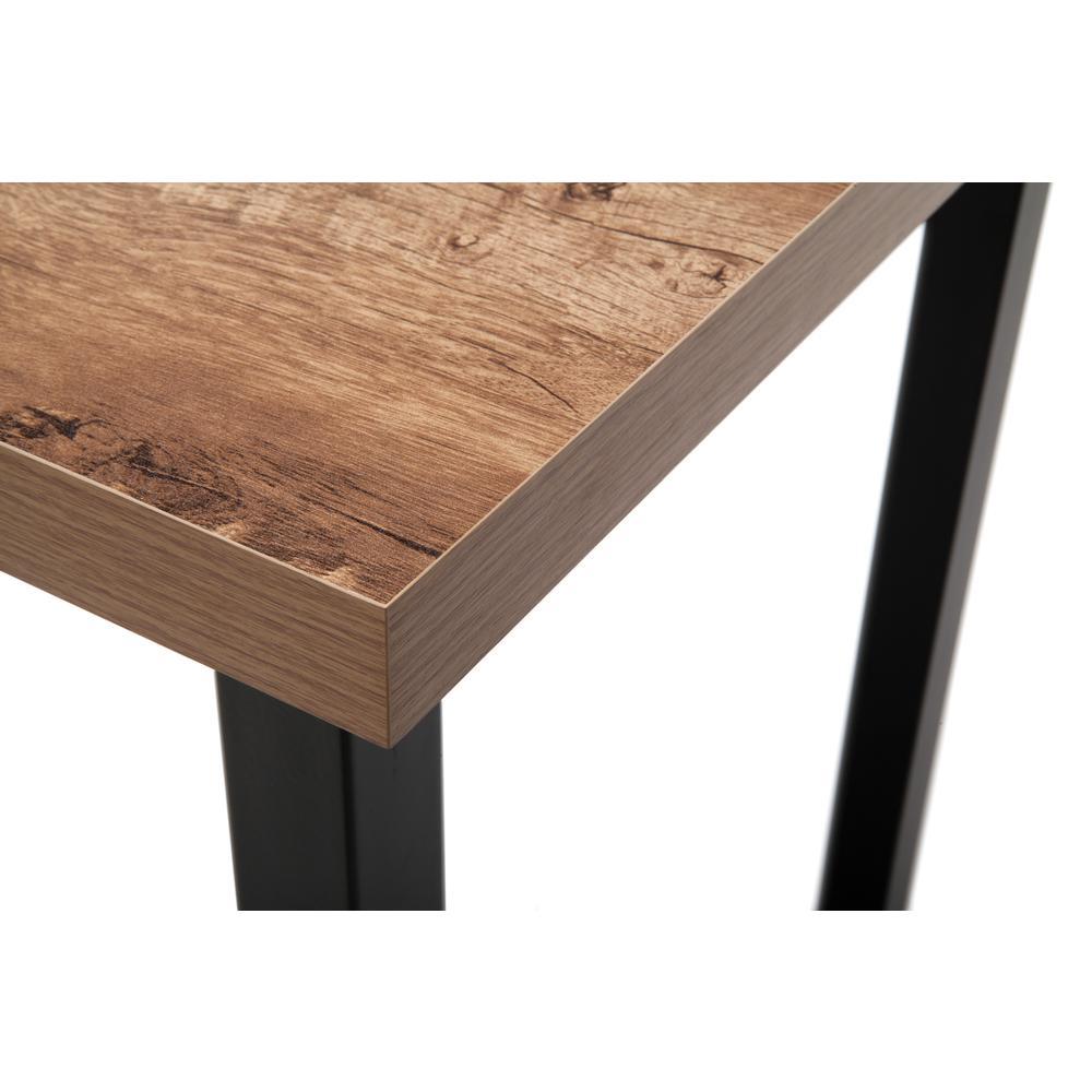 """OFM Essentials Collection 48"""" Table Desk, Knotty Oak Woodgrain (ESS-1051-BLK-KOA). Picture 6"""