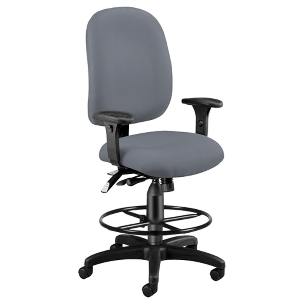 OFM Model 125-DK Task Chair with Arms and Kit, Fabric, Mid Back. Picture 1