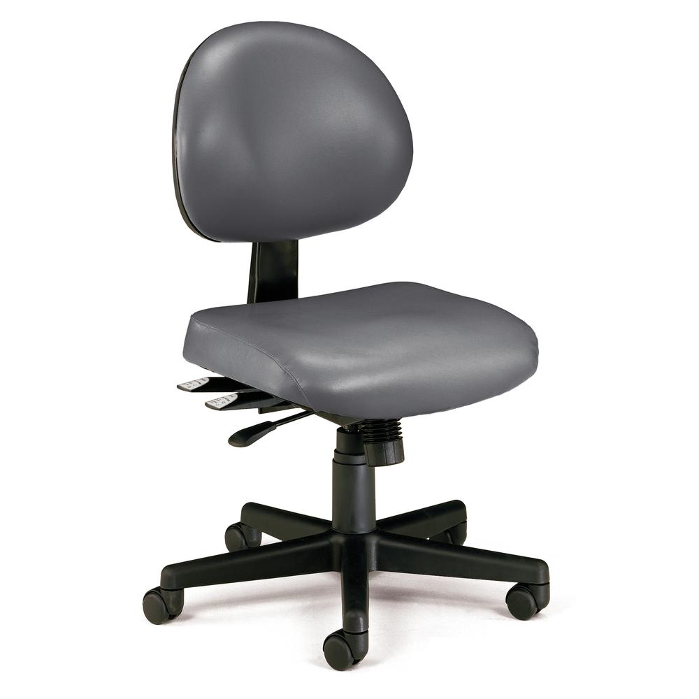 OFM 241-VAM Armless Task Chair, Anti-MicrobMid Back. Picture 1