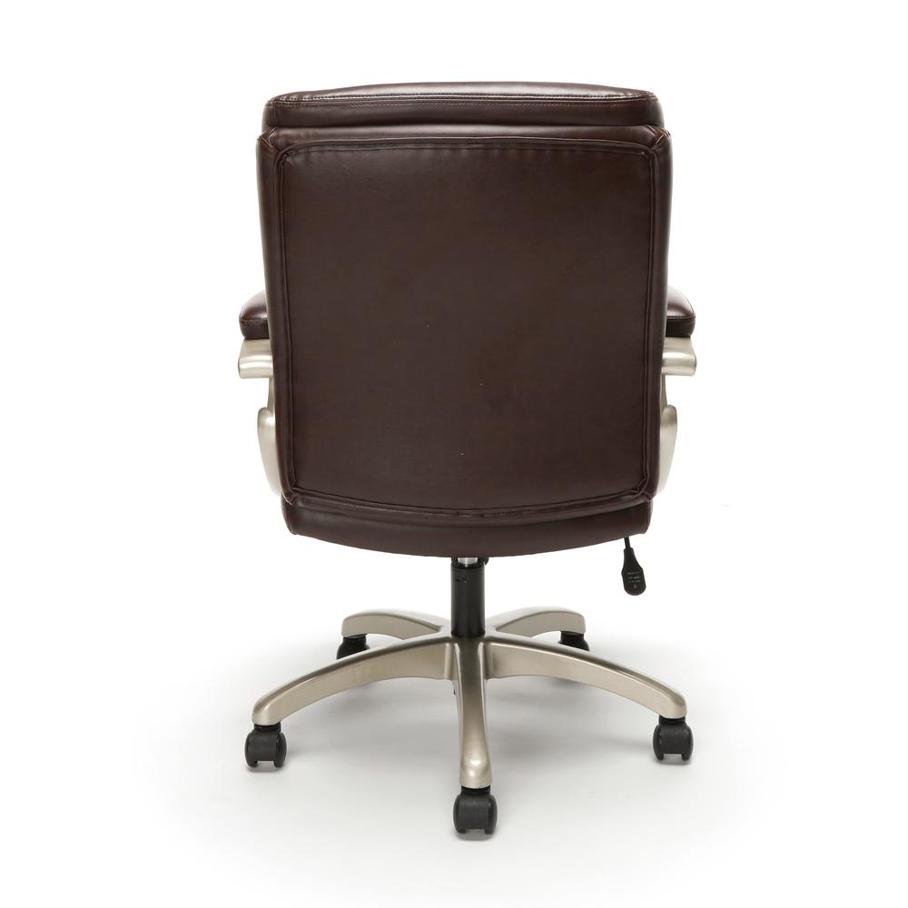 Essentials by OFM ESS-6020 Executive Office Chair, Brown with Champagne Frame. Picture 3