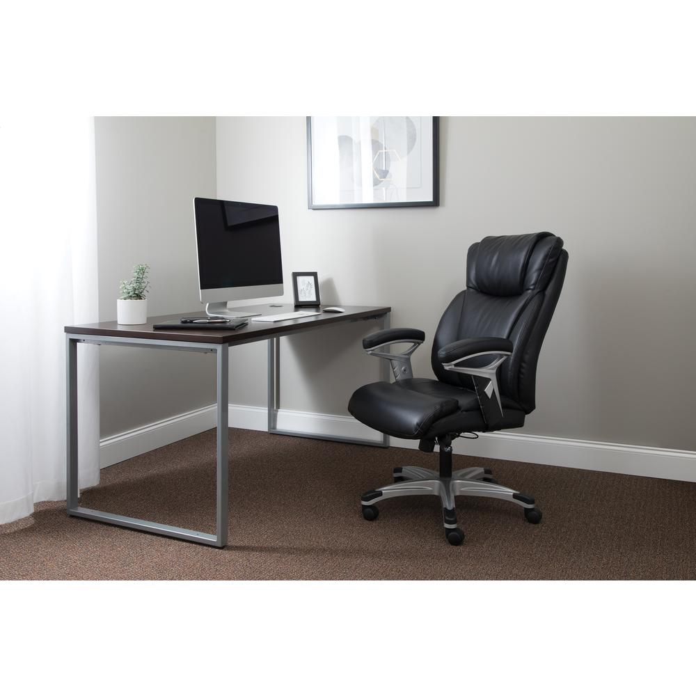 OFM Essentials Series Ergonomic Executive Bonded Leather Office Chair, in Black (ESS-6046-BLK). Picture 7
