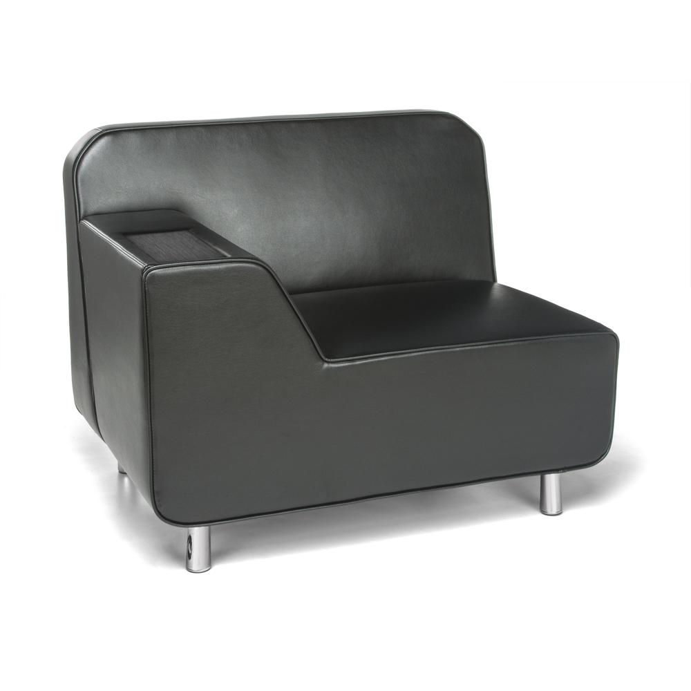 OFM Model 5000R Modular Right Arm Lounge Chair with Tungsten Table. Picture 1