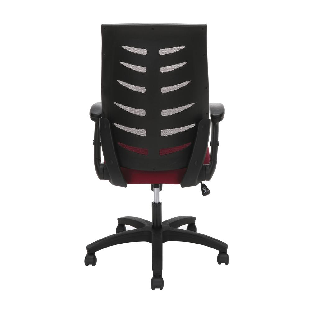 OFM Model 530-BURG Core Collection Midback Mesh Office Chair for Computer Desk, Burgundy. Picture 3