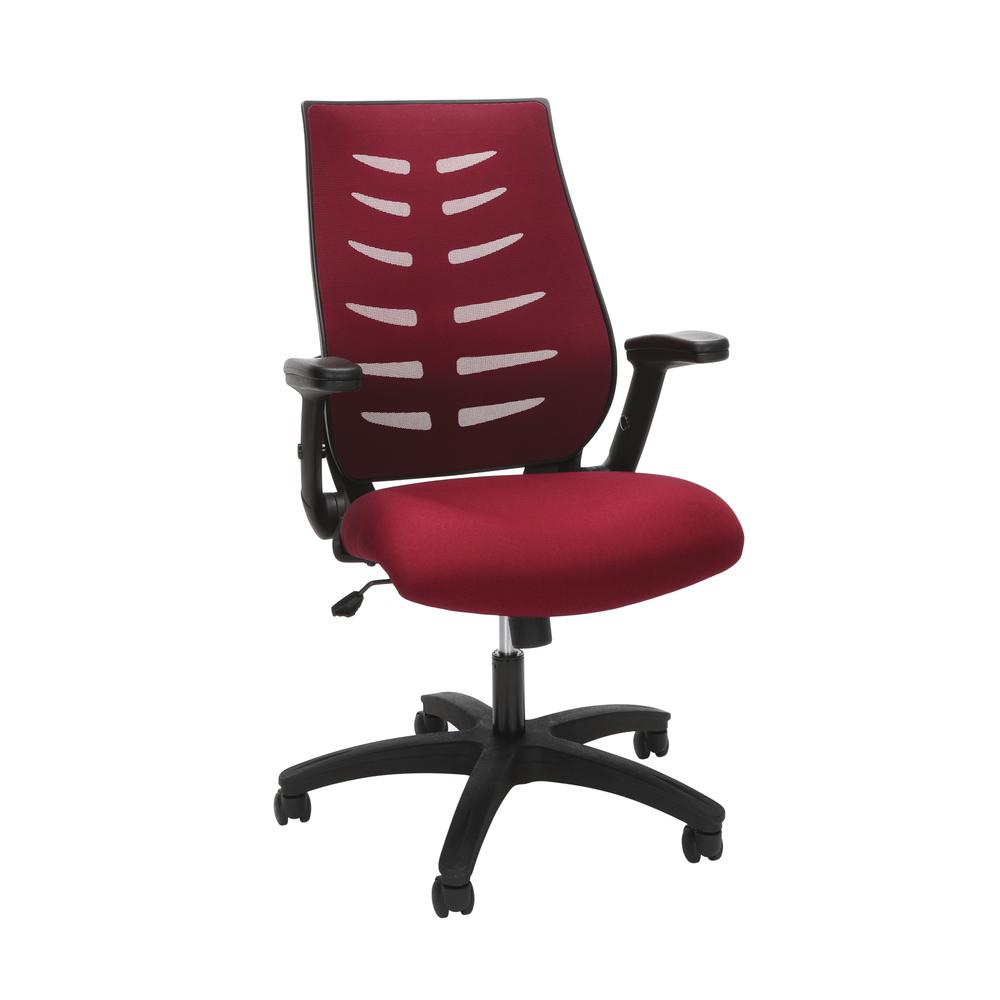 OFM Model 530-BURG Core Collection Midback Mesh Office Chair for Computer Desk, Burgundy. Picture 1