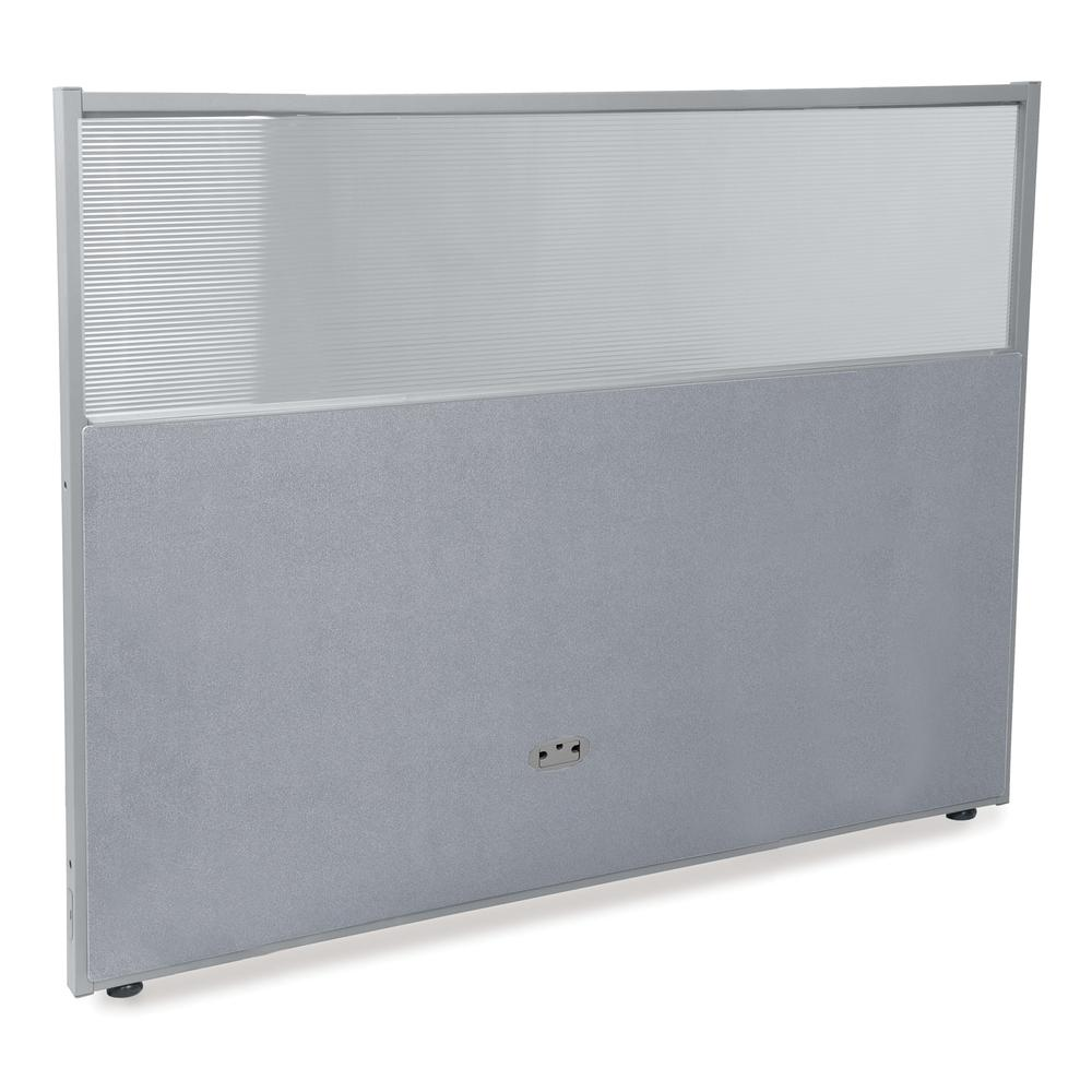 Vinyl Panel with Polycarbonate, Gray with Gray Frame. Picture 1