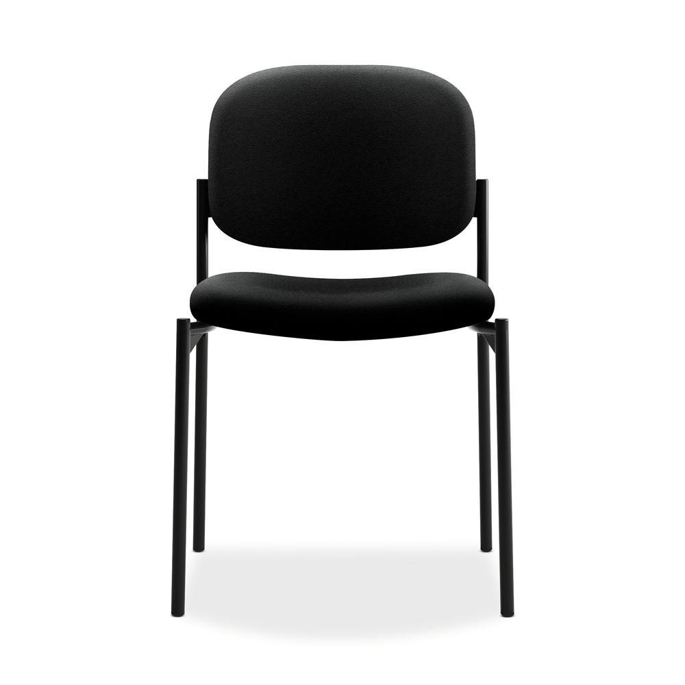 HON Scatter Guest Chair - Leather Stacking Chair Office Furniture, Black (VL606). Picture 2