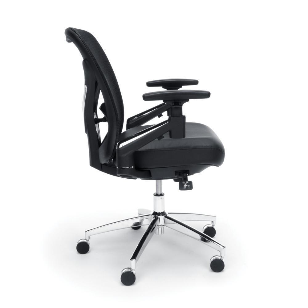 OFM Stratus Series Model 257-VAM 24-Hour Big & Tall High-Back Vinyl Mesh Chair,  Black. Picture 4