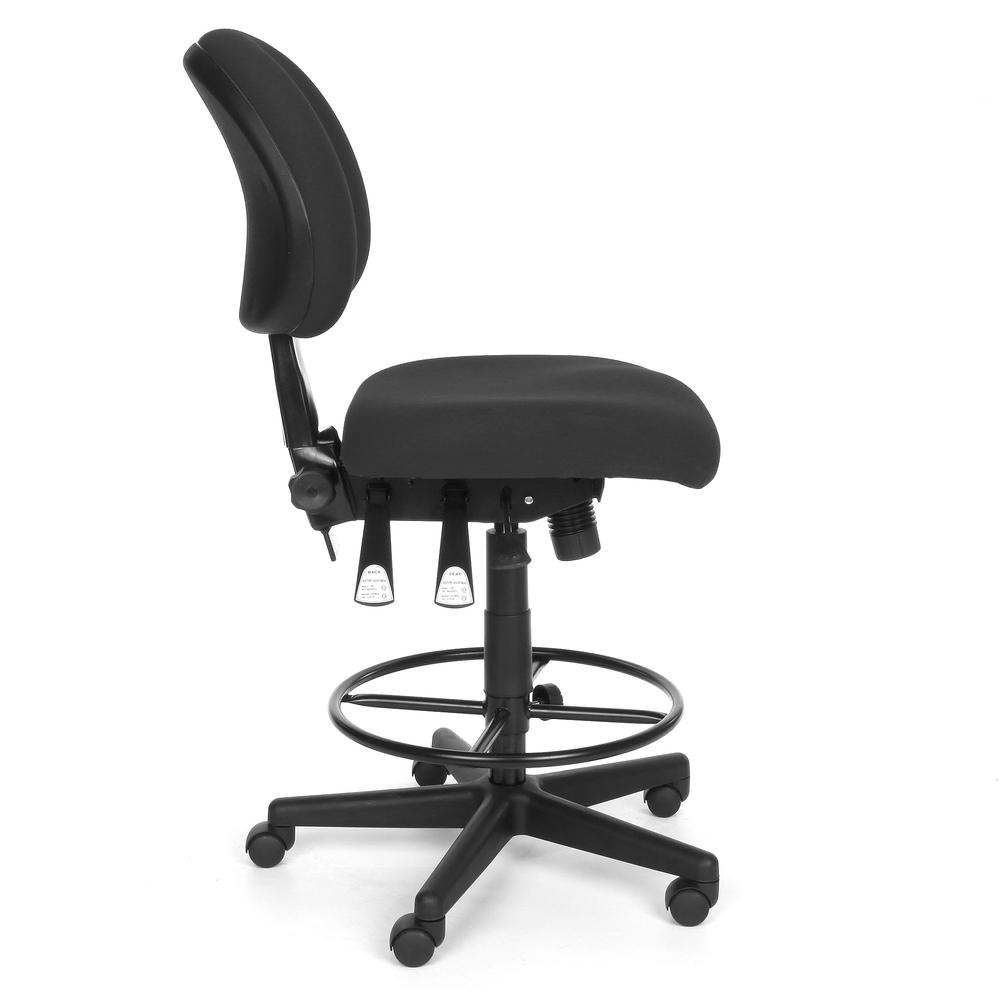 OFM 241-DK Upholstered Armless Task Chair with Kit, Charcoal. Picture 4