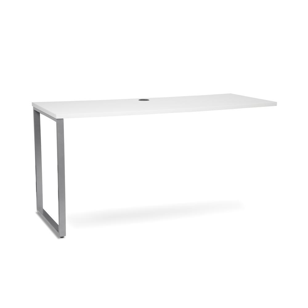 OFM Fulcrum Series 60x24 Credenza Desk, Desk Shell for Office, White (CL-C6024-WHT). Picture 1