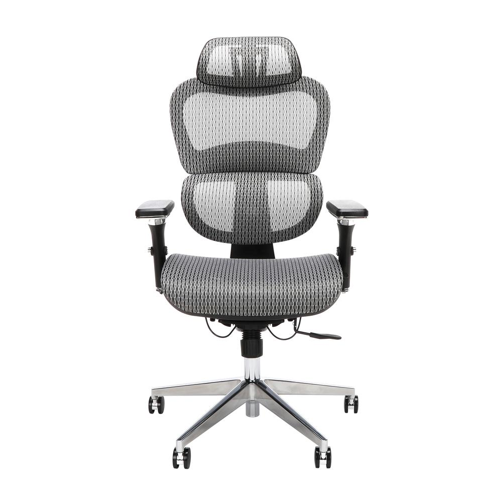 OFM Core Collection Ergo Office Chair featuring Mesh Back and Seat with Head Rest, in Gray (540-GRY). Picture 2