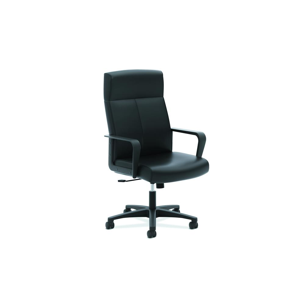 HON Validate High-Back Executive Task Chair, Fixed Arms, in Black Leather (HVL604)