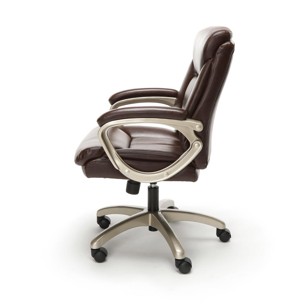 Essentials by OFM ESS-6020 Executive Office Chair, Brown with Champagne Frame. Picture 5
