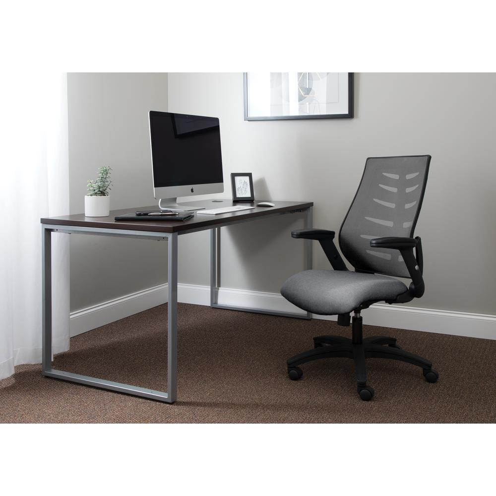 OFM Model 530-GRY Core Collection Midback Mesh Office Chair for Computer Desk, Gray. Picture 7