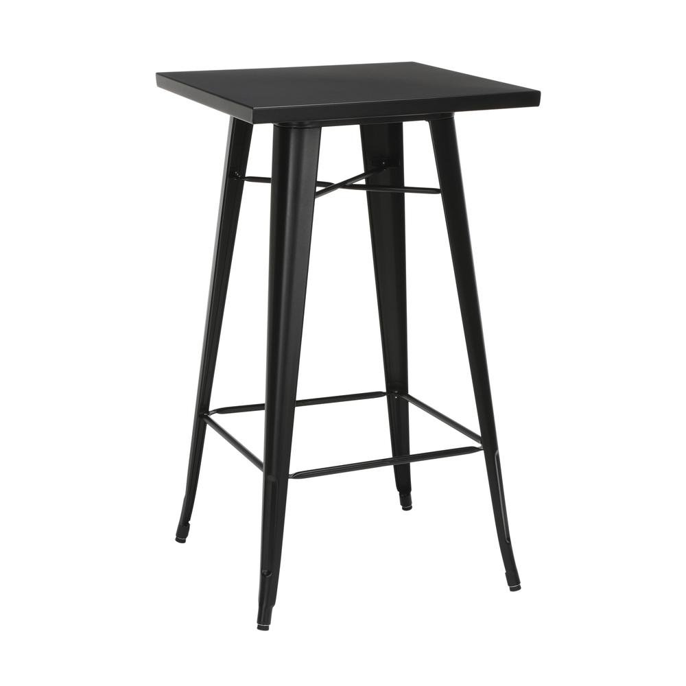 "The OFM 161 Collection Industrial Modern 24"" Square Bar Table with Footring is perfect for indoor or outdoor applications because its galvanized steel is coated in an anti-UV powder that helps prevent. The main picture."
