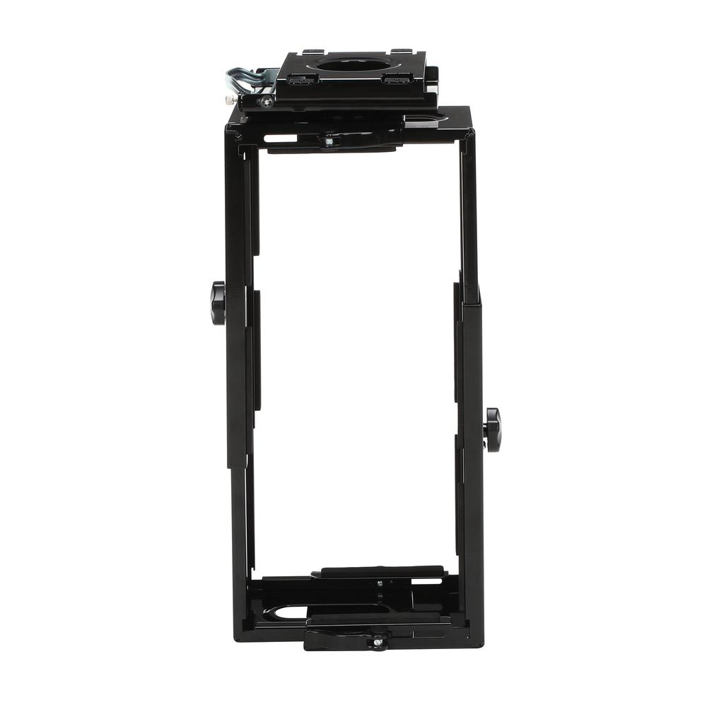 OFM Essentials Collection Adjustable Under Desk and Wall Mount Computer CPU Holder, in Black (ESS-8900-BLK). Picture 3
