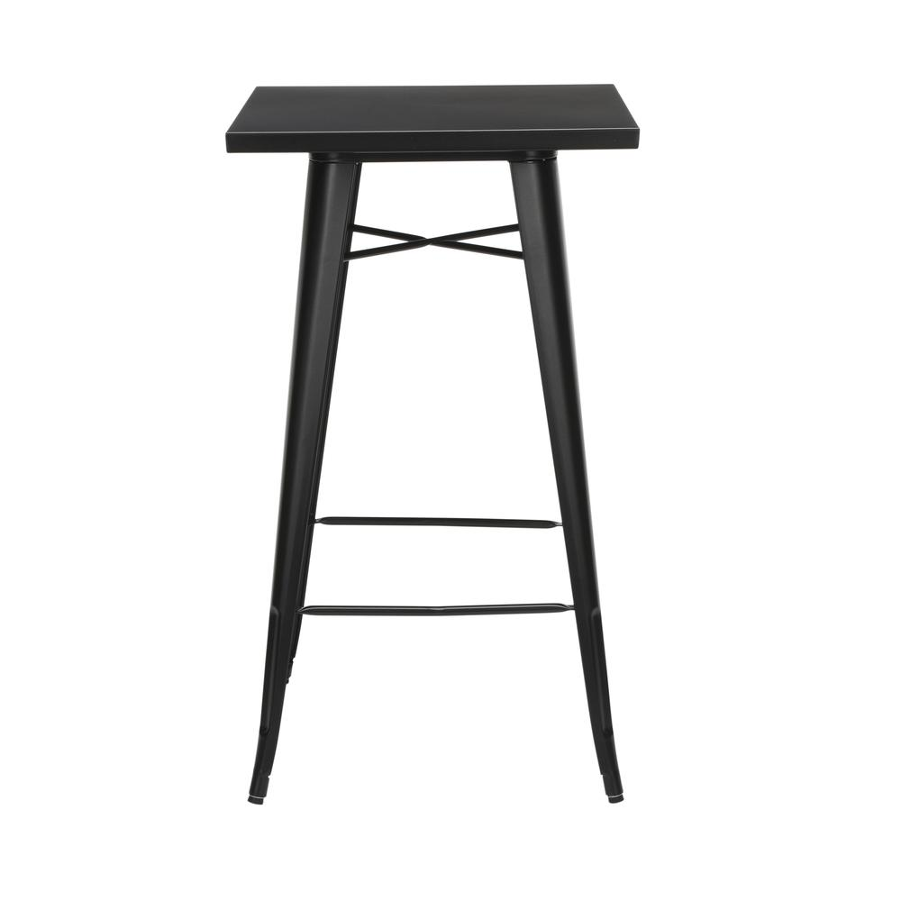 "The OFM 161 Collection Industrial Modern 24"" Square Bar Table with Footring is perfect for indoor or outdoor applications because its galvanized steel is coated in an anti-UV powder that helps prevent. Picture 3"