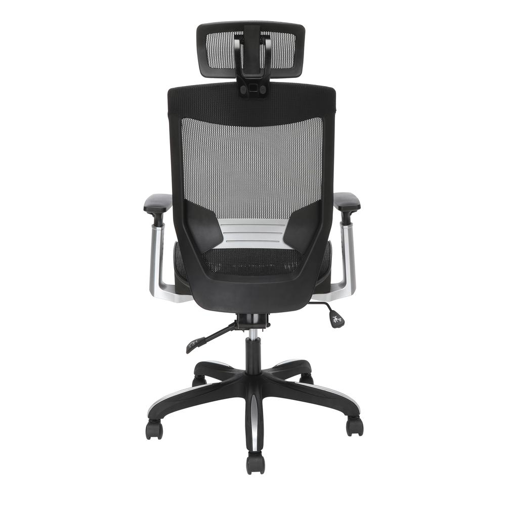 OFM Core Collection Full Mesh Office Chair with Headrest, Lumbar Support, in Black. Picture 3