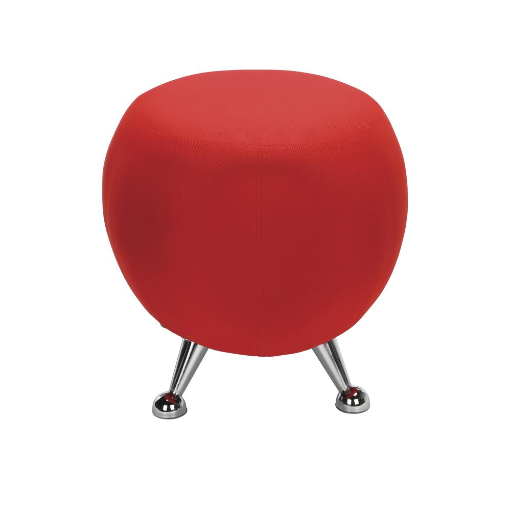 OFM Jupiter Series Fabric Ball Stool, in Red (2001-2312). Picture 4