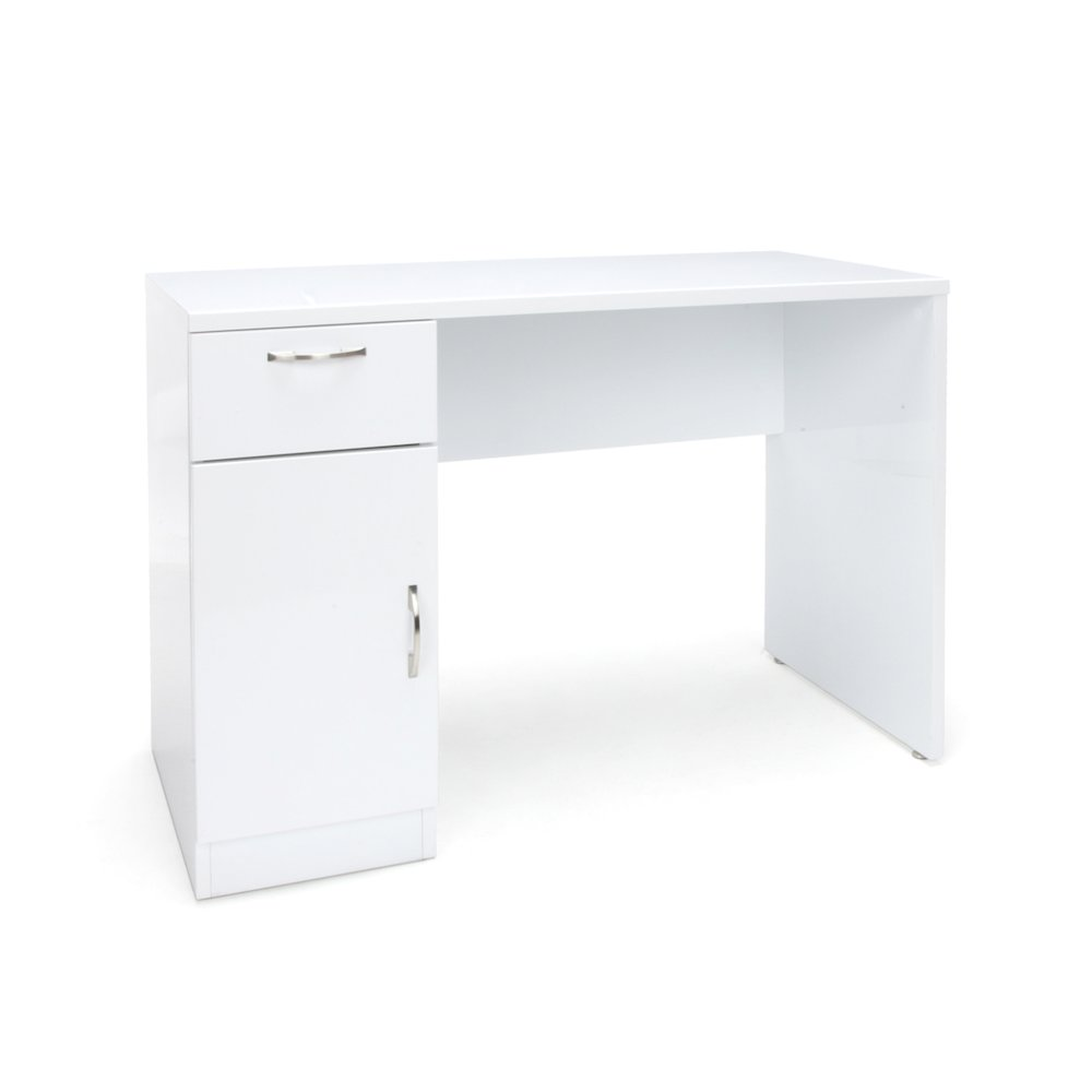 Single Pedestal Solid Panel Office Desk With Drawer And