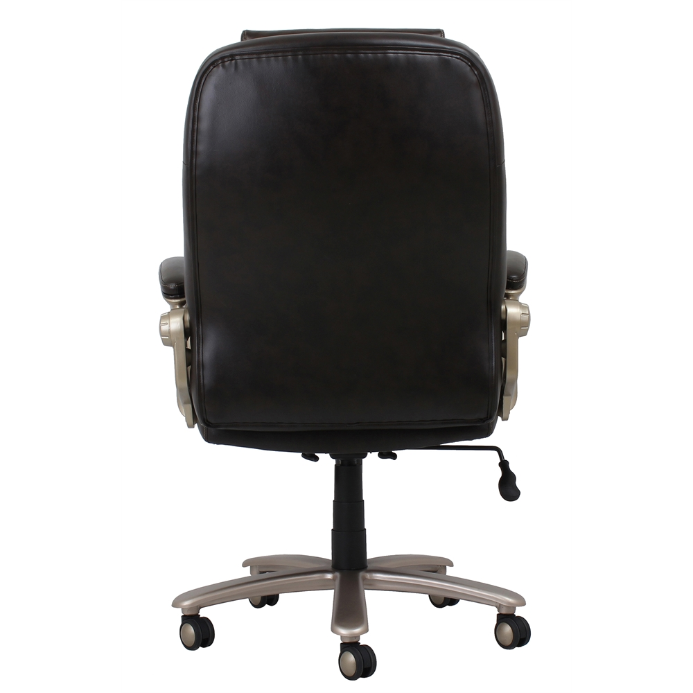 Big and Tall Leather Executive Office Chair with Arms  : 21ess20120420back from www.bisonoffice.com size 1000 x 1000 jpeg 208kB