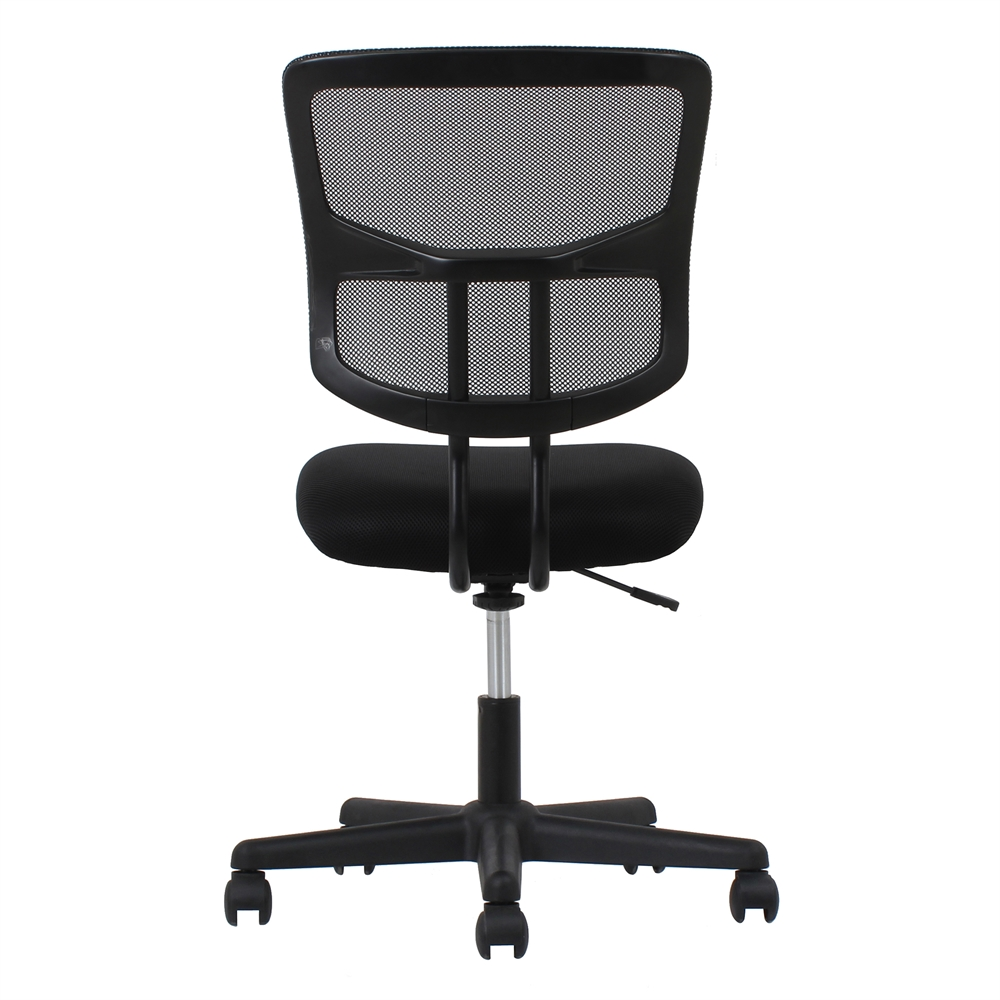 swivel mesh armless task chair black. Black Bedroom Furniture Sets. Home Design Ideas