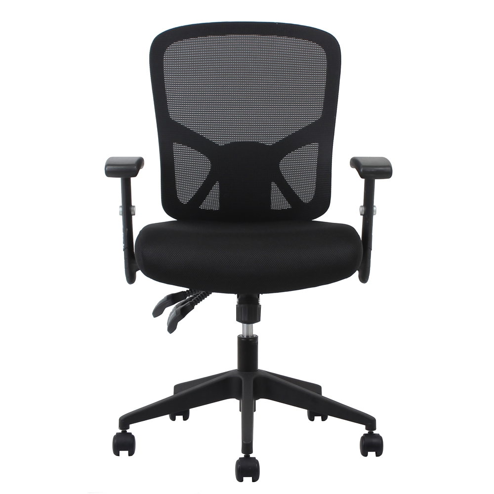 3 Paddle Ergonomic High Back Mesh Task Chair With Arms And