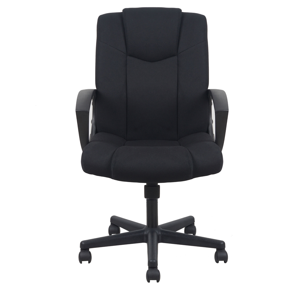 Swivel Upholstered Task Chair With Arms Black