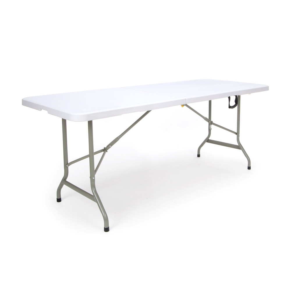 Center folding Table White Blow Molded Plastic Top