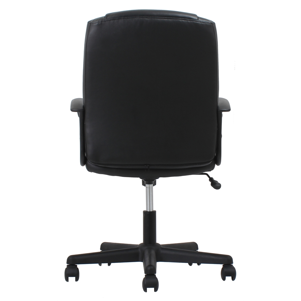 Ergonomic Leather Executive Office Chair With Arms Black