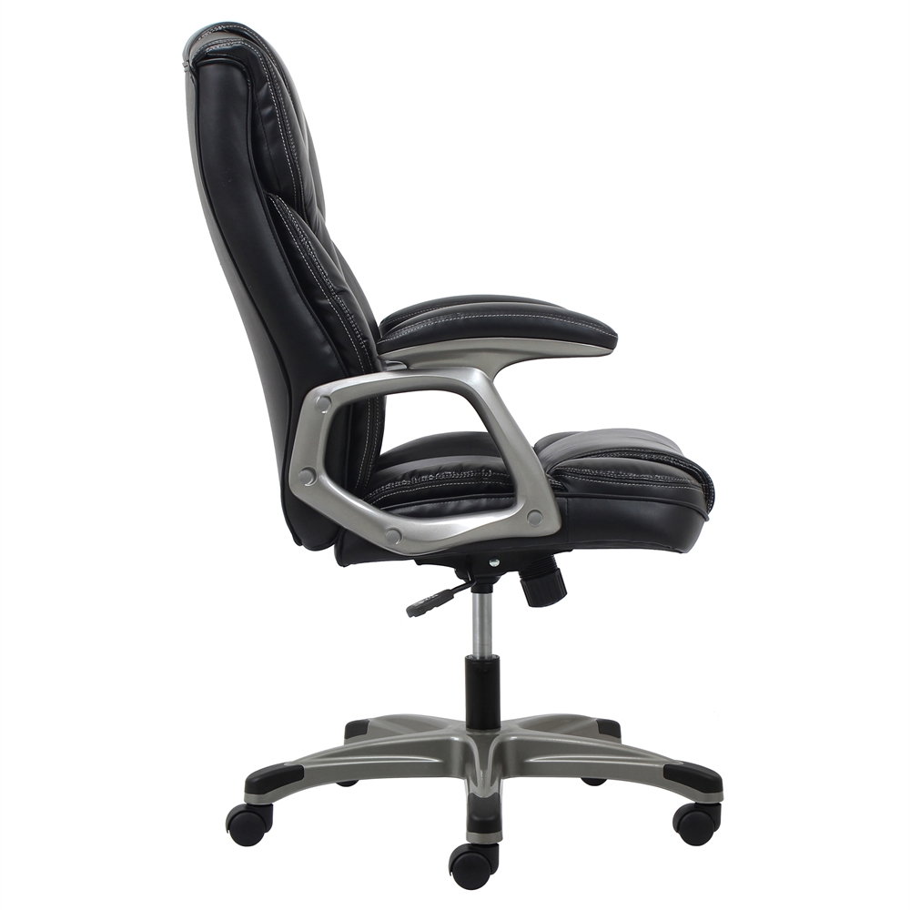 Ergonomic High Back Leather Executive Office Chair With