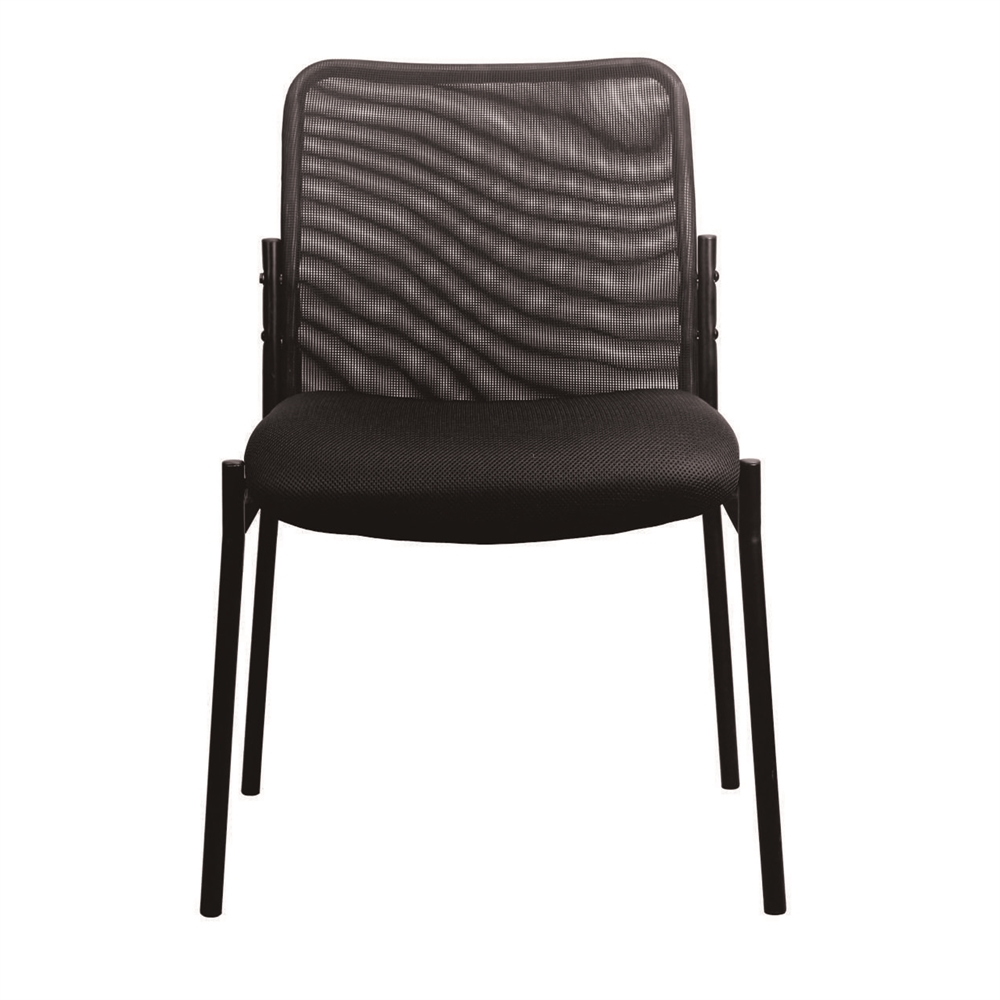 Mesh Upholstered Stacking Armless Side Chair