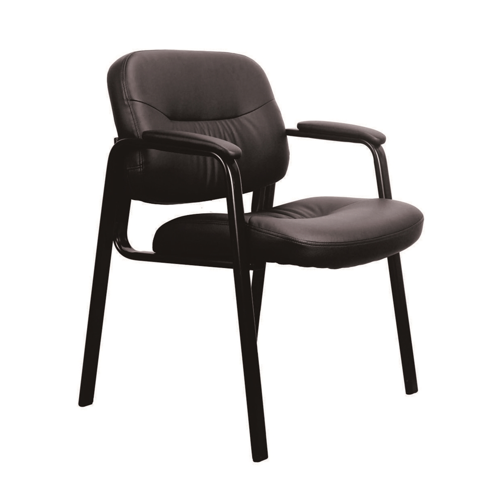 leather executive side chair with padded arms black. Black Bedroom Furniture Sets. Home Design Ideas
