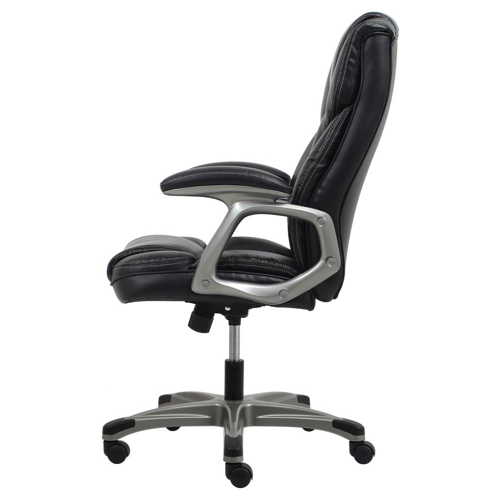 OFM ESS-6030 High-Back Bonded Leather Chair with Fixed Arms. Picture 5