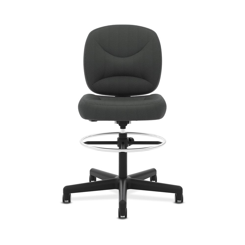HON ValuTask Low-Back Task Stool Chair, in Black (HVL215). Picture 2