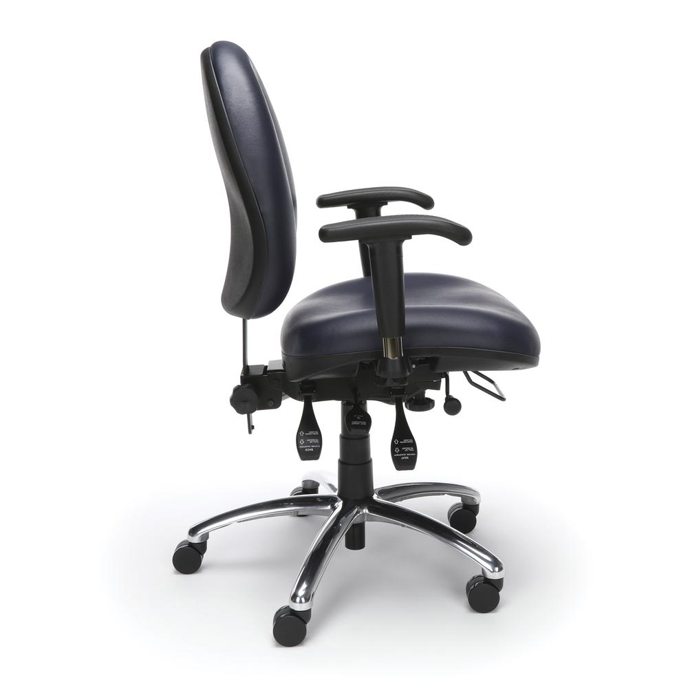 OFM Model 247-VAM Big , Tall Computer Swivel Task Chair with Arms, Vinyl. Picture 4