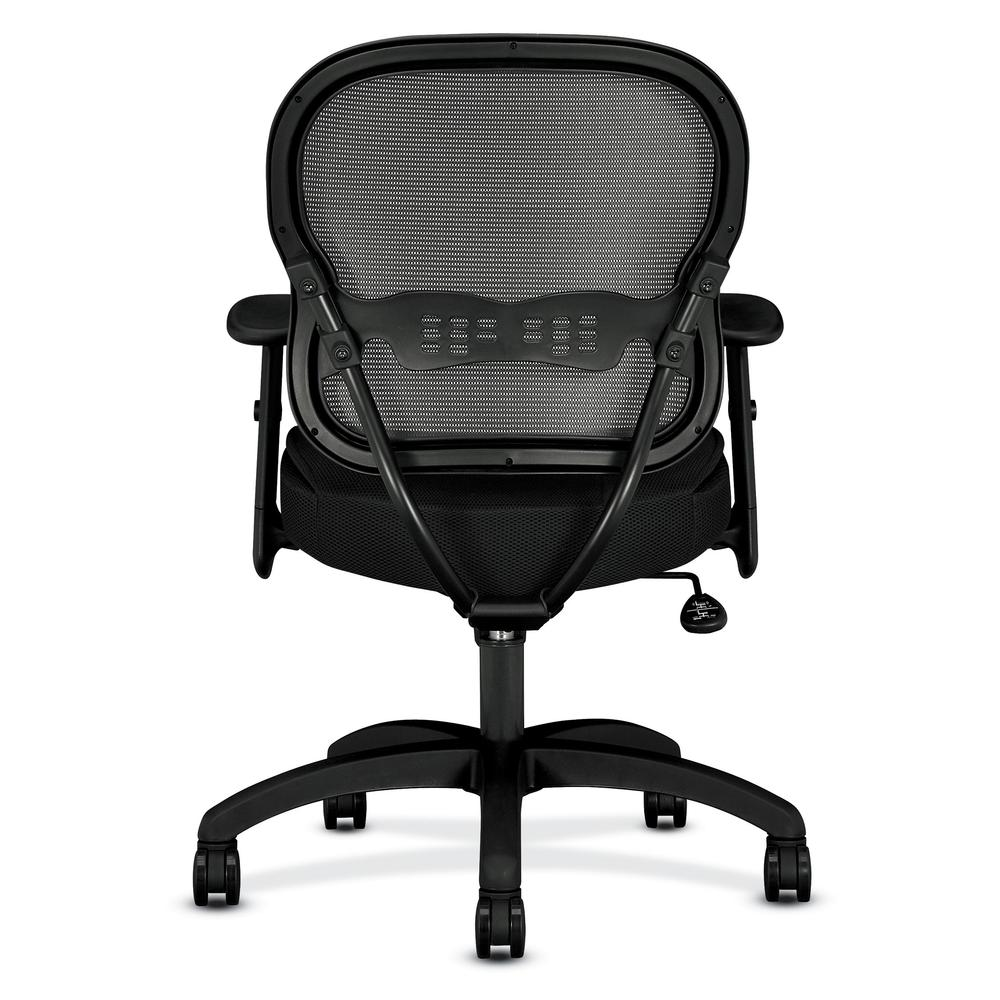 HON Wave Mid-Back Chair - Mesh Office or Computer Chair with Adjustable Arms, Black (VL712). Picture 3