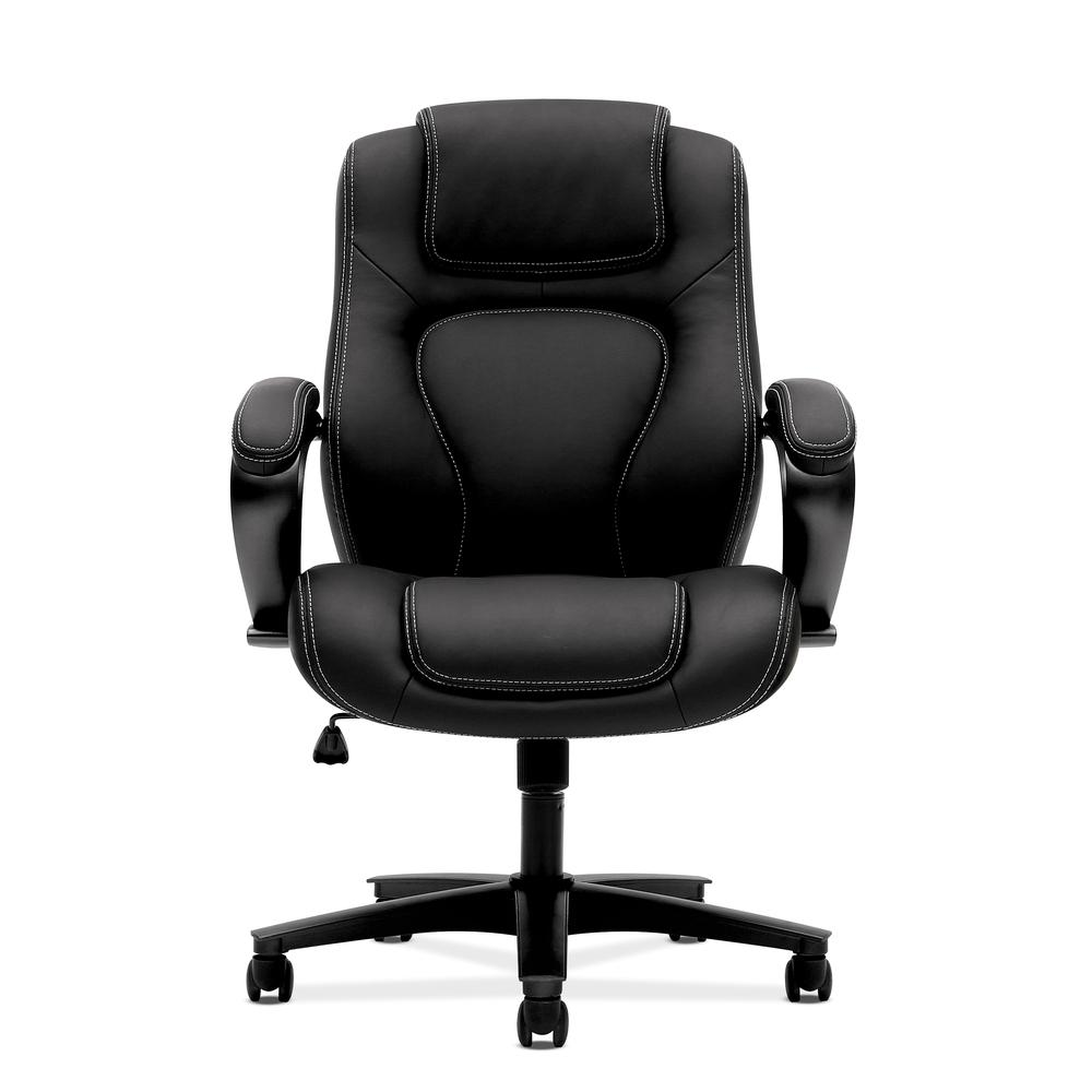 Black Leather Accent Chairs For Bariatric.Hon Managerial Office Chair High Back Computer Desk Chair With Loop Arms Black Vl402 By Hon
