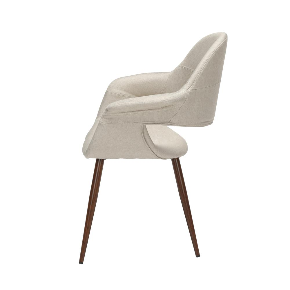 The OFM 161 Collection Mid Century Modern Fabric Accent Chair with Arms, 2 Pack, in Beige, is reminiscent of the original MCM chair. This quintessential mid century modern accent dining chair is sold. Picture 5