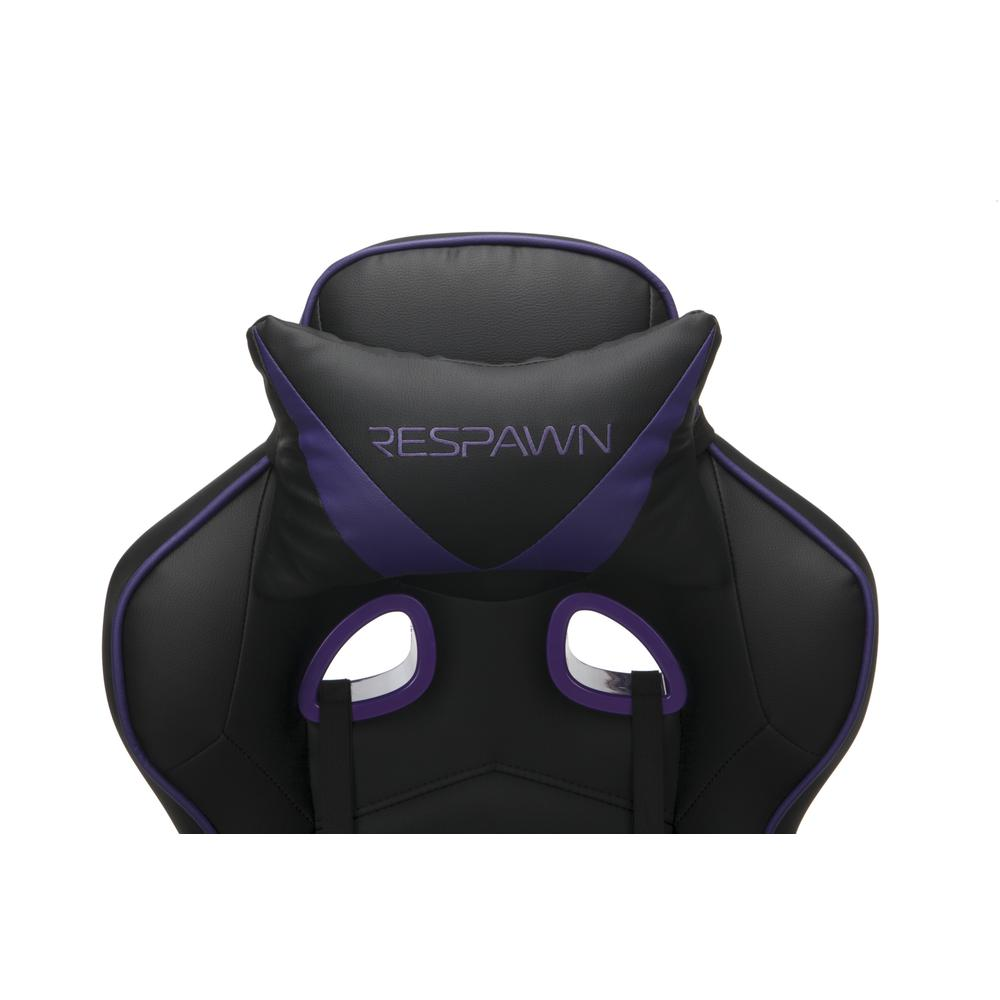 RESPAWN 110 Racing Style Gaming Chair with Footrest, in Purple. Picture 7