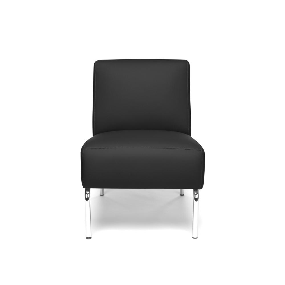 OFM Triumph Series Armless Modular Lounge Chair, in Black (3000-PU606). Picture 2