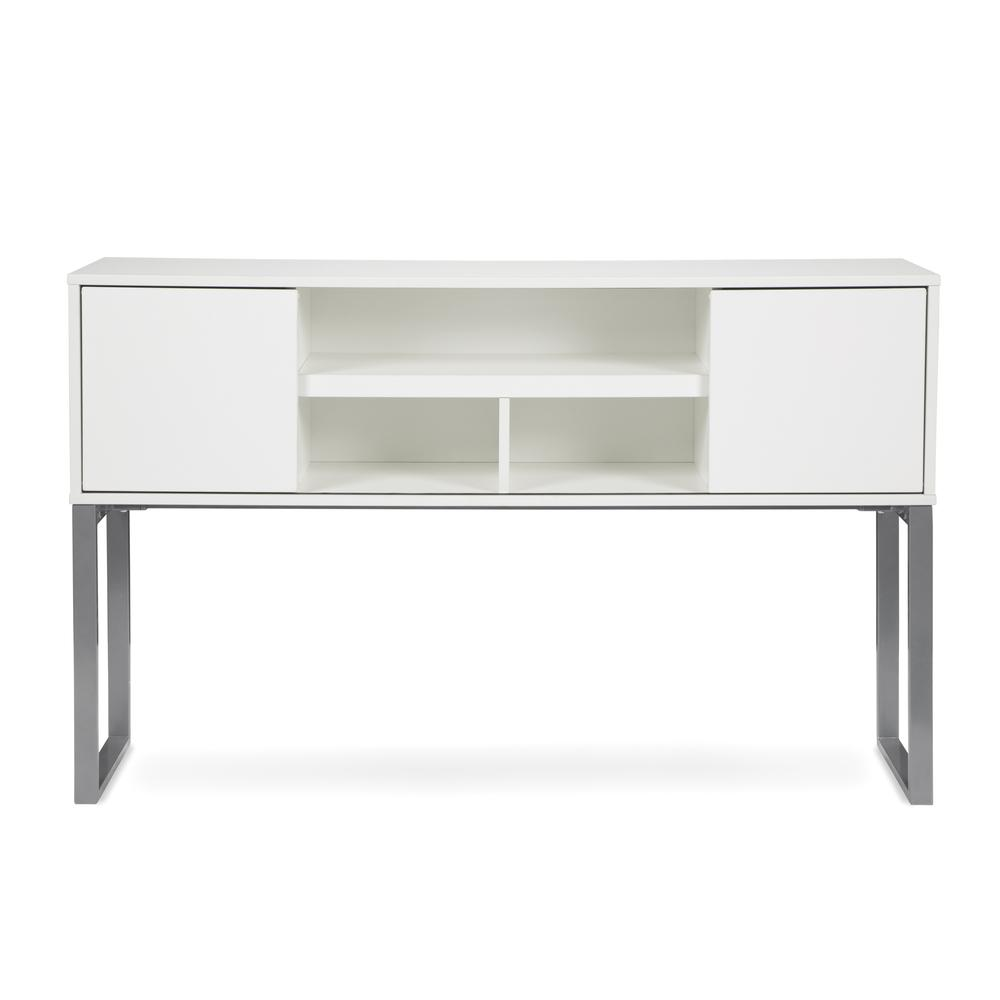 """OFM Fulcrum Series 60"""" Hutch with Doors, Office Cabinet for Storage, White (CL-H6015-WHT). Picture 2"""