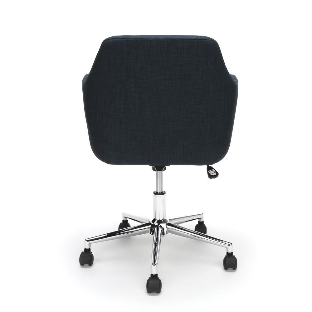 Essentials by OFM ESS-2085 Upholstered Home Office Desk Chair, Blue. Picture 3